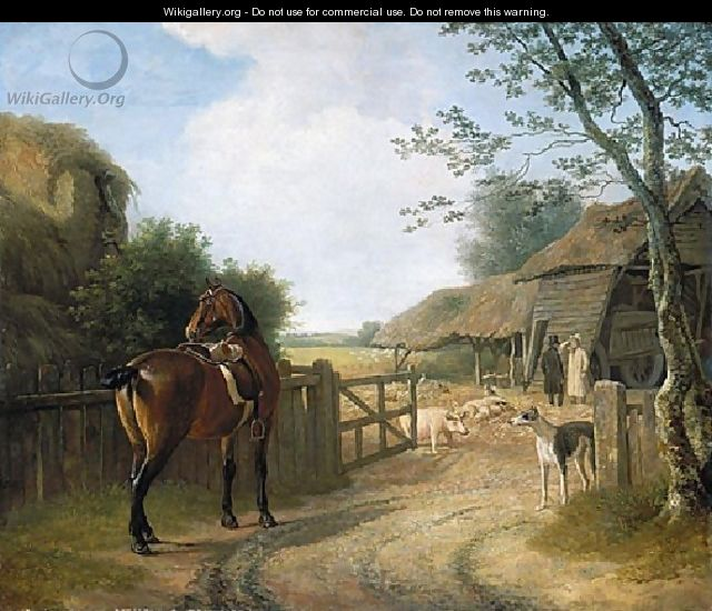 Daniel Beale At His Farm At Edmonton With His Favourite Horse - Jacques Laurent Agasse