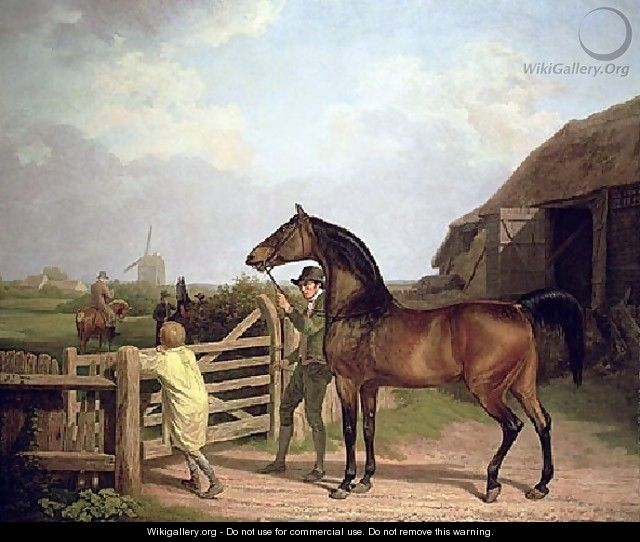 Bay Ascham A Stallion Led Through A Gate To A Mare - Jacques Laurent Agasse