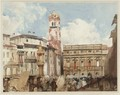 Verona Piazza Dell Erbe - Richard Parkes Bonington
