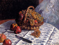 Still Life: Apples And Grapes - Alfred Sisley