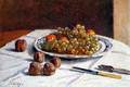 Grapes And Walnuts On A Table - Alfred Sisley