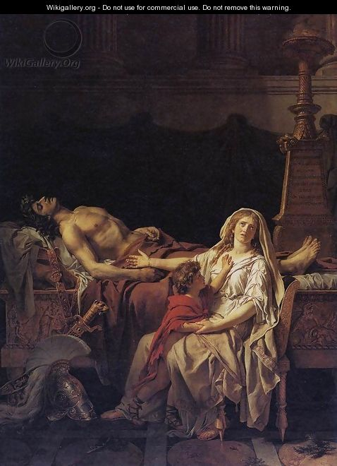 Andromache Mourning Hector 1783 - Jacques Louis David