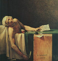 The Death Of Marat (detail 2) 1793 - Jacques Louis David