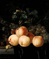 Peaches And Grapes - Willem Van Aelst