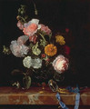 Vanitas Flower Still Life - Willem Van Aelst