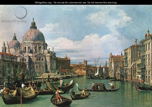 The Grand Canal And The Church Of The Salute - (Giovanni Antonio Canal) Canaletto