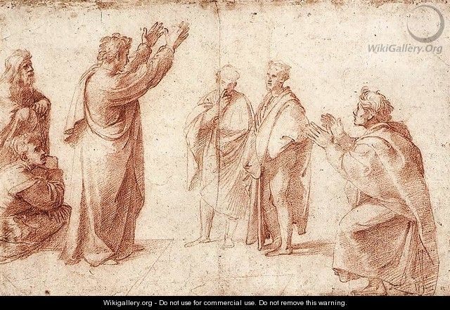 Study For St Paul Preaching In Athens - Raphael