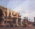 Capriccio The Horses of San Marco in the Piazzetta 1743 - (Giovanni Antonio Canal) Canaletto