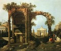 Capriccio Ruins and Classic Buildings 1730s - (Giovanni Antonio Canal) Canaletto