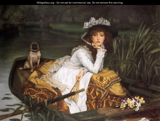Young Lady In A Boat - James Jacques Joseph Tissot