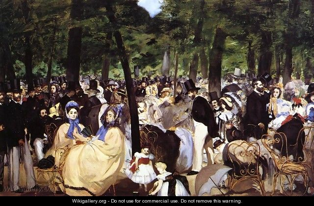 Music In The Tuileries Gardens - Edouard Manet