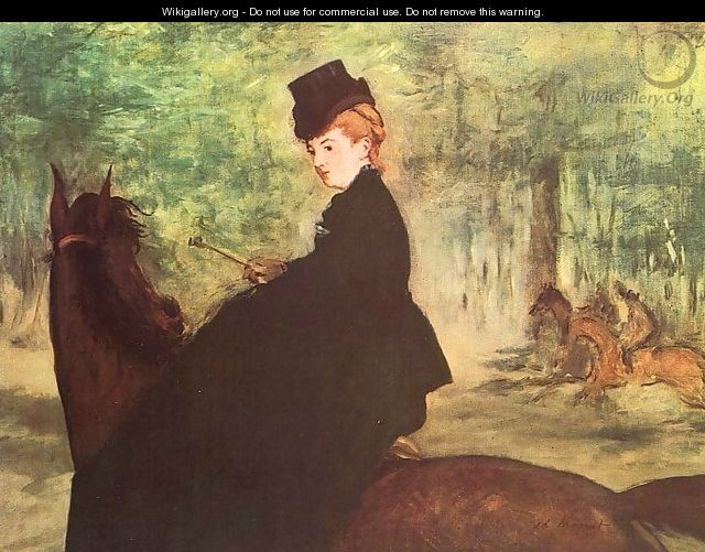 The Horsewoman 1875 - Edouard Manet