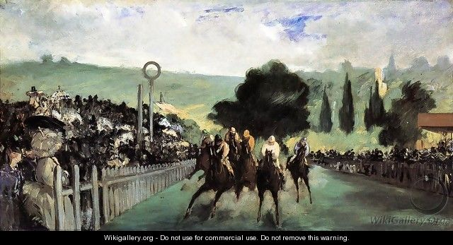Racetrack Near Paris 1864 - Edouard Manet