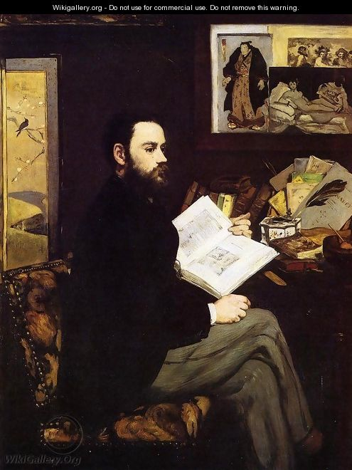 Portrait of Emile Zola 1868 - Edouard Manet