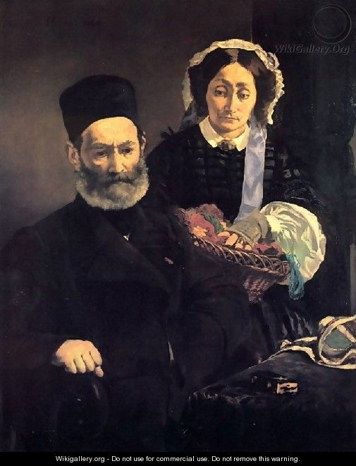 Mr And Mme Auguste Manet - Edouard Manet