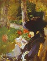 Manet's Mother In The Garden At Bellevue - Edouard Manet