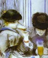 Two Women Drinking Bocks - Edouard Manet