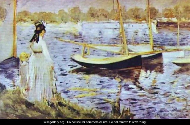 The Banks Of The Seine At Argenteuil - Edouard Manet