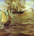 The Battle Of The Kearsarge And The Alabama - Edouard Manet