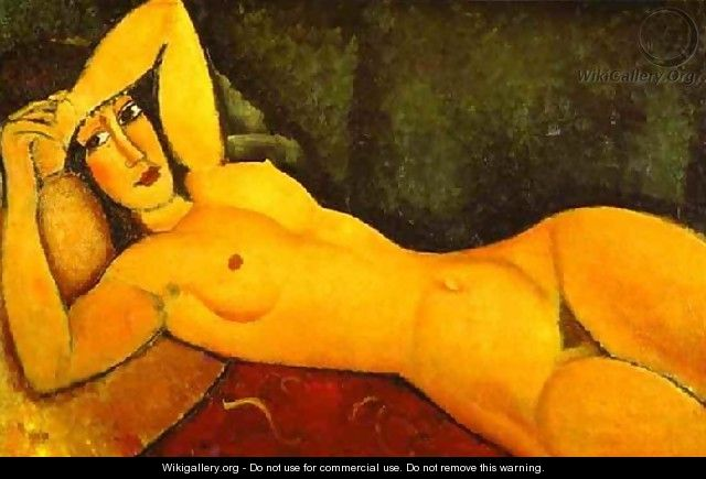 Reclining Nude With Left Arm Resting On Forehead - Amedeo Modigliani