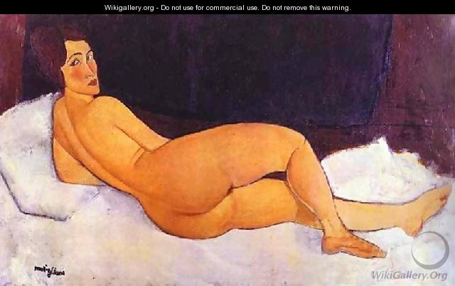 Nude Looking Over Her Right Shoulder - Amedeo Modigliani