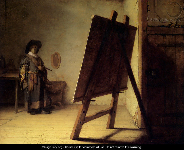 The Artist in his Studio 1626-28 - Rembrandt Van Rijn