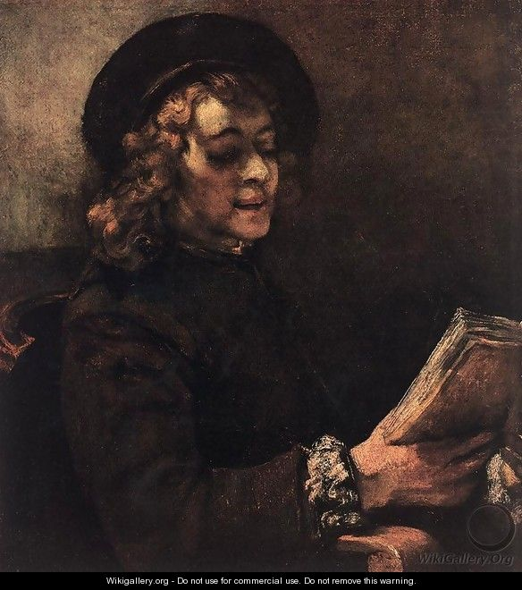 Titus Reading 1656 - Rembrandt Van Rijn