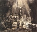 The Three Crosses (second state) 1653 - Rembrandt Van Rijn