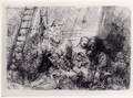 The Circumscision In The Stable - Rembrandt Van Rijn