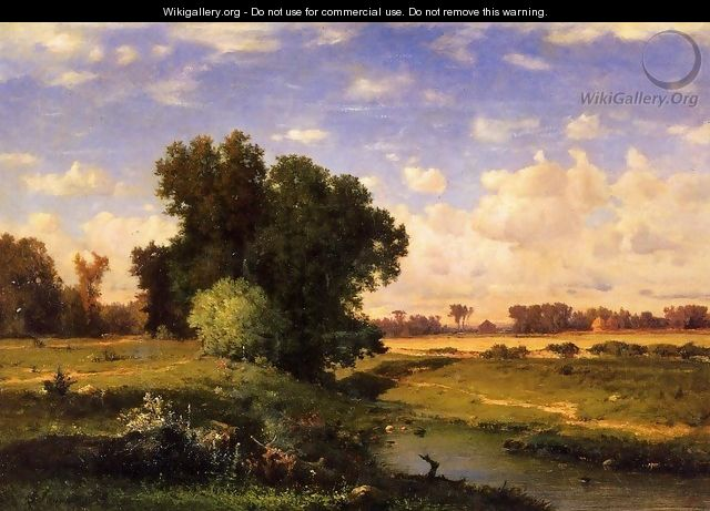 Hackensack Meadows Sunset - George Inness