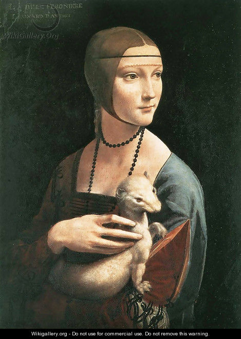 Portrait of Cecilia Gallerani (Lady with an Ermine) 1483-90 - Leonardo Da Vinci