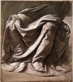 Garment Study For A Seated Figure - Leonardo Da Vinci