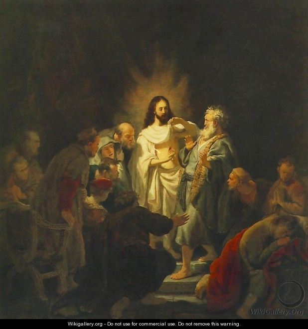 The Incredulity of St Thomas 1634 - Rembrandt Van Rijn