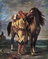 Marocan And His Horse - Eugene Delacroix