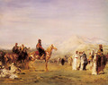 Arab Encampment In The Atlas Mountains - Eugene Fromentin