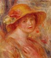 Woman In A Straw Hat3 - Pierre Auguste Renoir