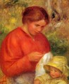 Woman And Child - Pierre Auguste Renoir