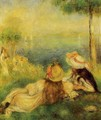 Young Girls By The Sea - Pierre Auguste Renoir
