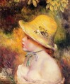Young Girl In A Straw Hat2 - Pierre Auguste Renoir