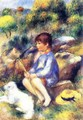 Young Boy At The Stream - Pierre Auguste Renoir