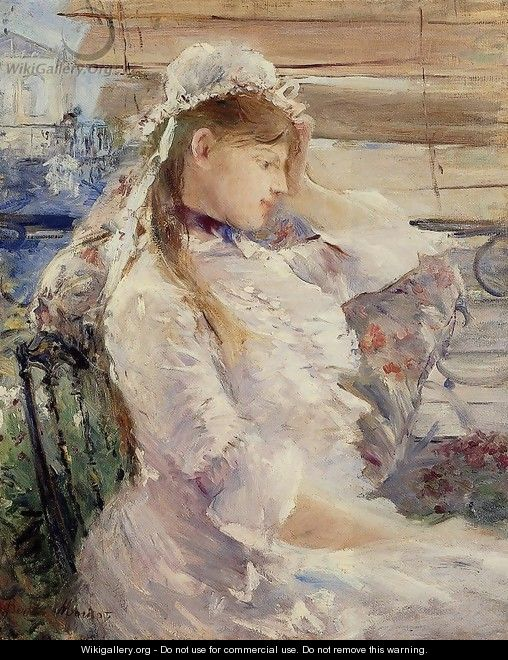 Behind The Blinds - Berthe Morisot