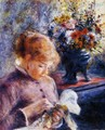 Young Woman Sewing - Pierre Auguste Renoir