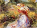 Young Woman In A Hat2 - Pierre Auguste Renoir