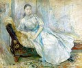 Madame Albine Sermicola In The Studio - Berthe Morisot