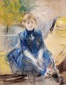 Little Girl In A Blue Dress - Berthe Morisot