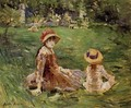In The Garden At Maurecourt 1884 - Berthe Morisot