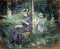 Girl Sewing In A Garden - Berthe Morisot