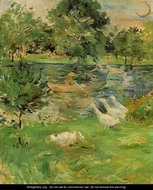 Girl in a Boat, with Geese 1889 - Berthe Morisot
