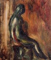 Study Of A Statuette By Maillol - Pierre Auguste Renoir