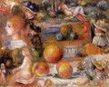 Studies Womans Heads Nudes Landscapes And Peaches - Pierre Auguste Renoir
